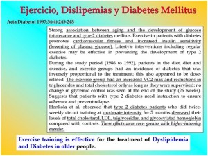 Ejercicio, dislipemias, diabetes